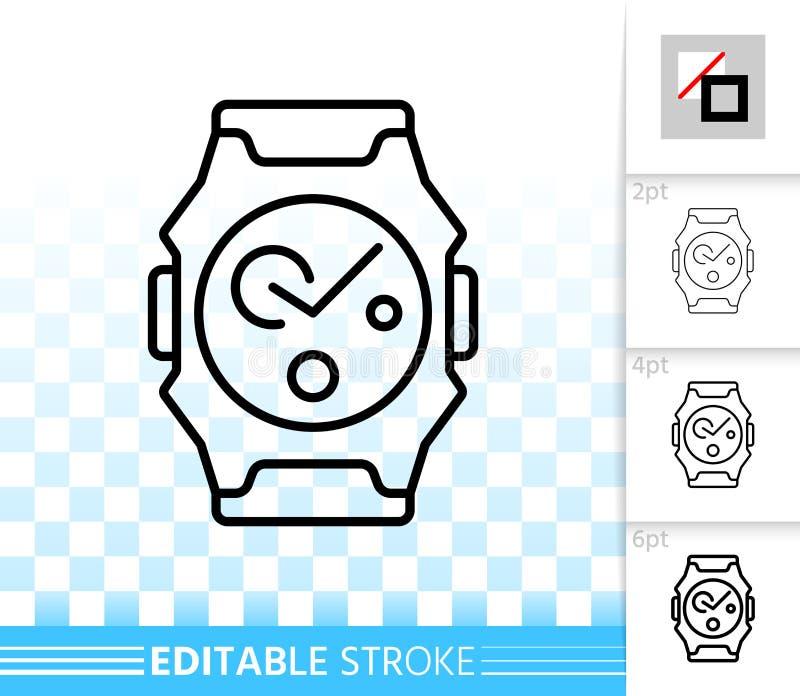 Línea negra simple icono del reloj del vector libre illustration