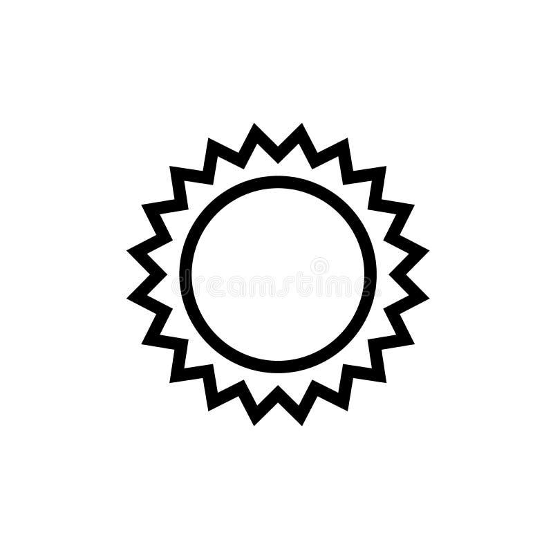Línea negro de la medalla de la estrella del icono libre illustration