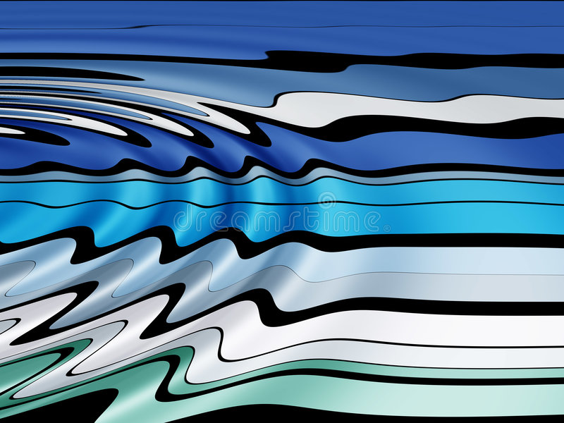 Línea ondulada modelo stock de ilustración
