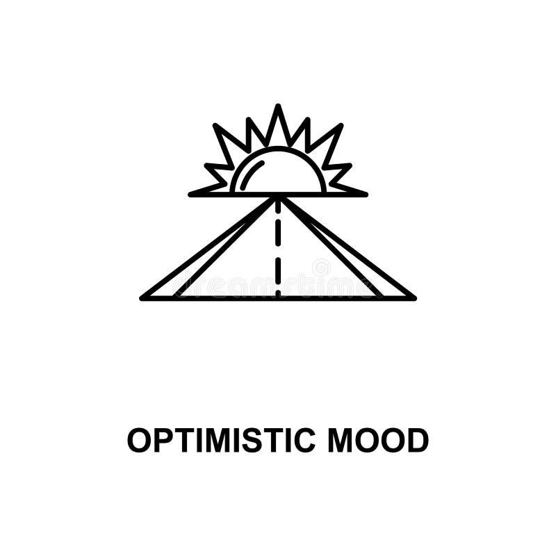 línea optimista icono del humor stock de ilustración