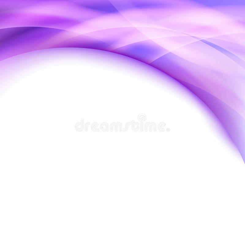 Línea púrpura brillante carpeta de la frontera de Swoosh del resplandor stock de ilustración