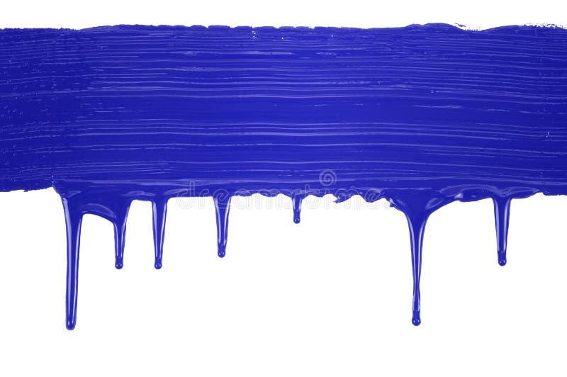 Línea pintada azul imagen de archivo libre de regalías