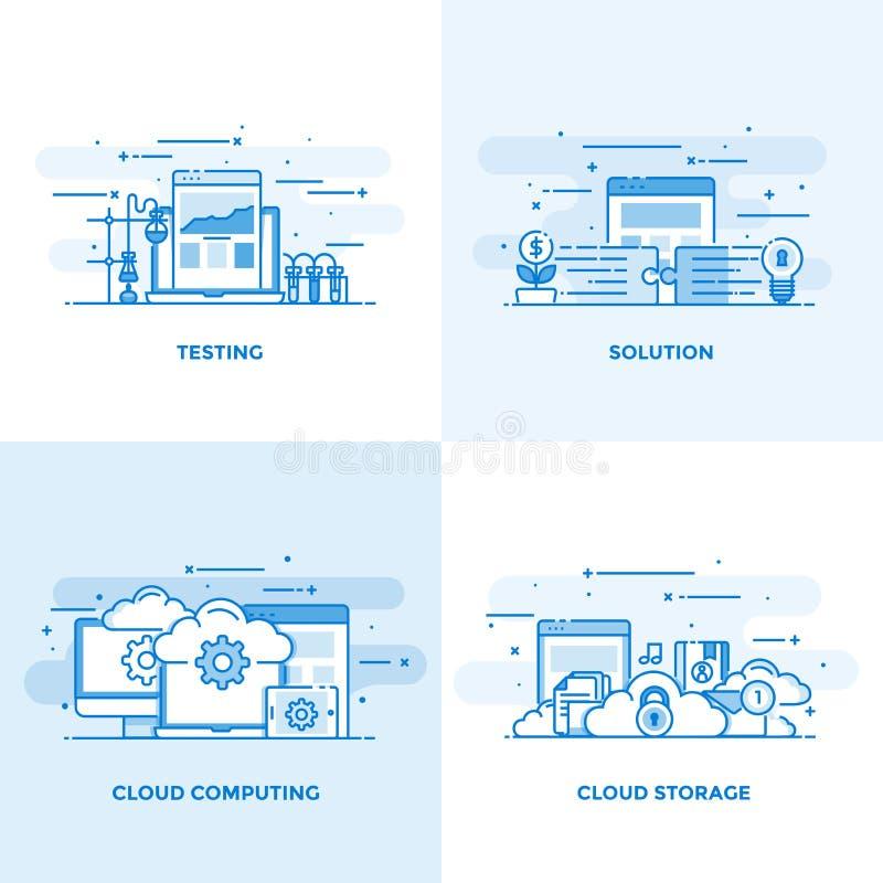 Línea plana conceptos diseño 9 libre illustration