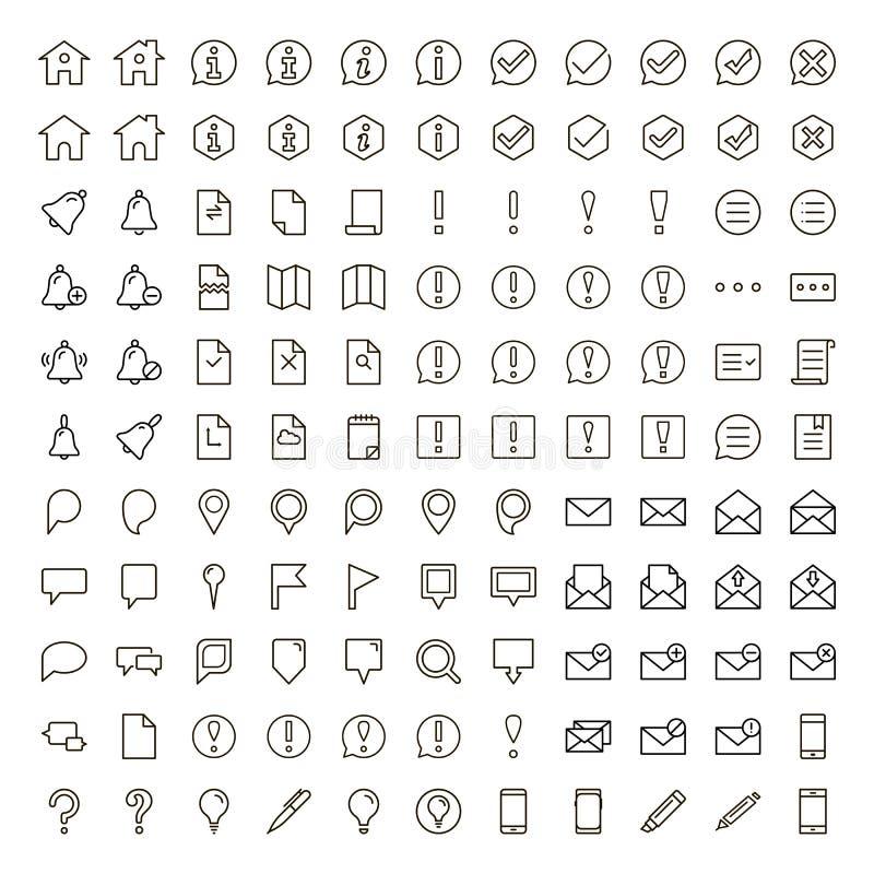 Línea plana icono stock de ilustración