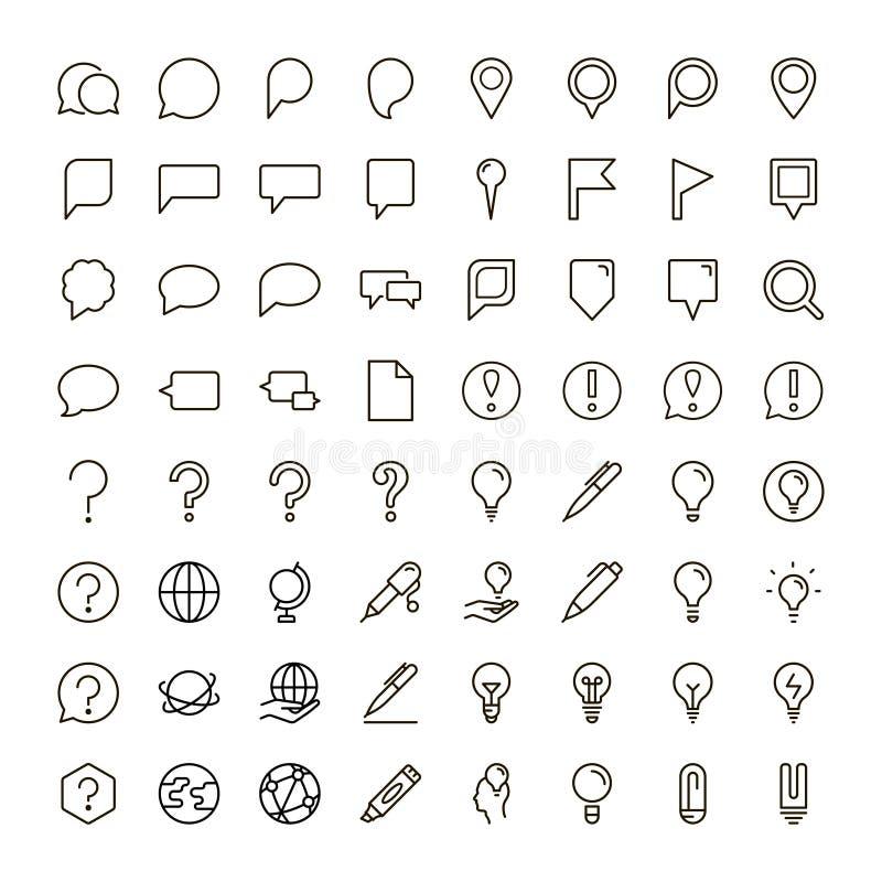 Línea plana icono libre illustration