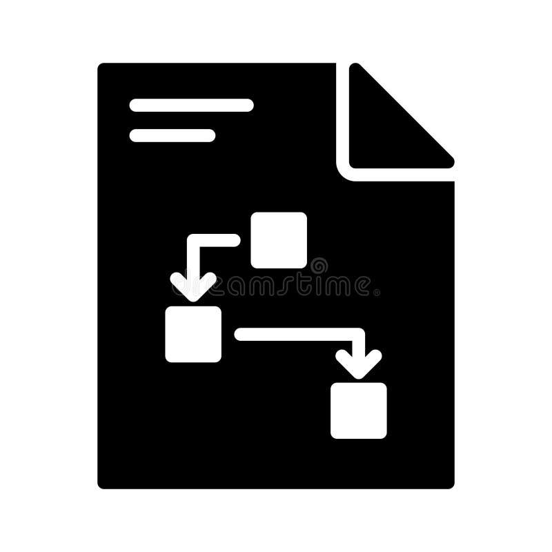 Línea plana icono del glyph del fichero del vector stock de ilustración
