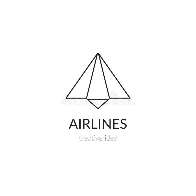 Línea plantilla de las líneas aéreas del logotipo libre illustration
