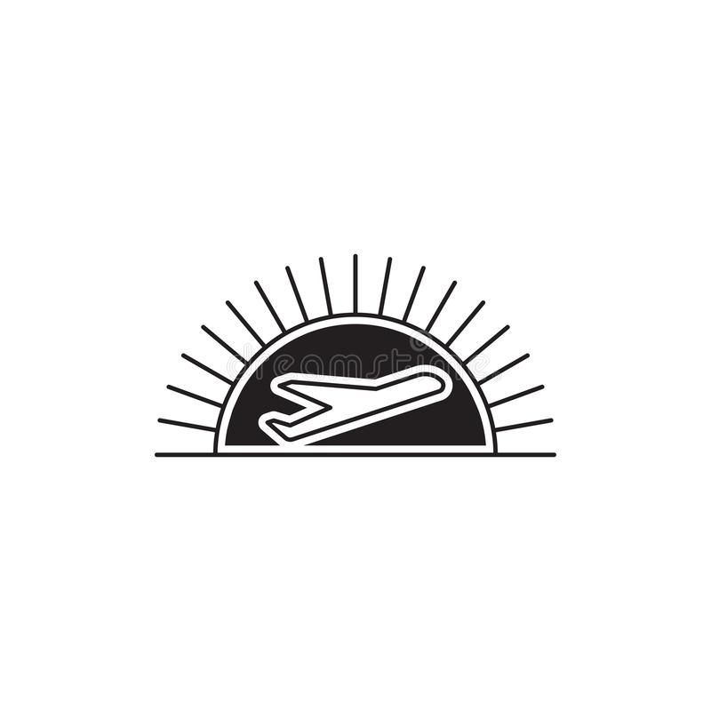 Línea plantilla de las líneas aéreas del logotipo stock de ilustración
