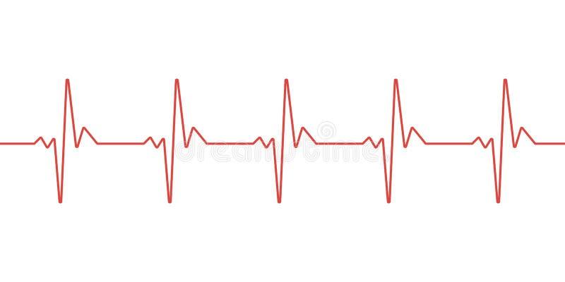 línea plantilla del pulso del vector stock de ilustración