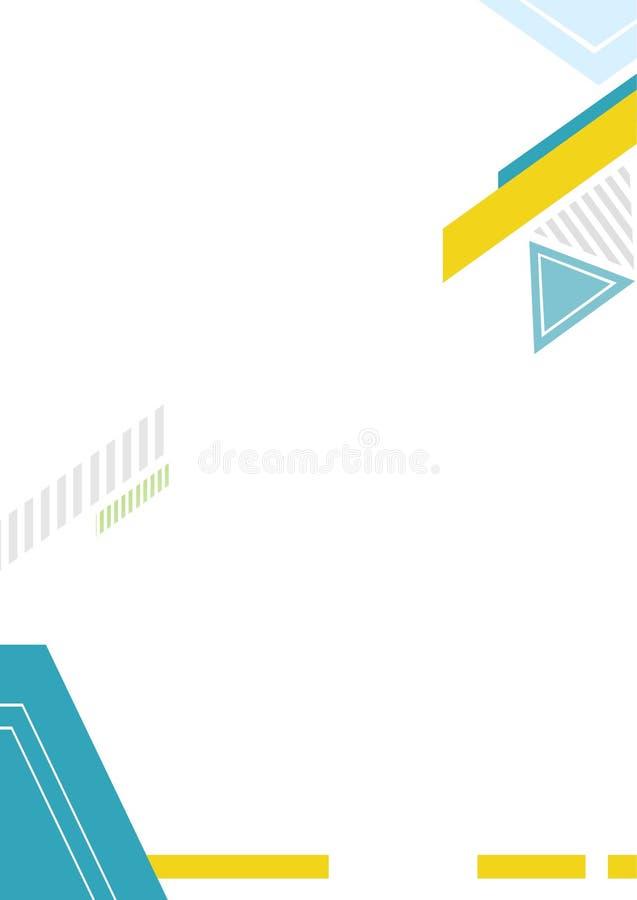 Línea plantilla del vector del fondo del triángulo fotos de archivo