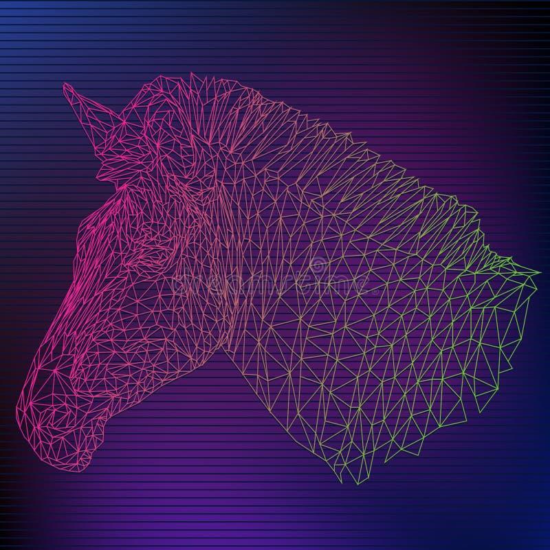 Línea poligonal arte del ejemplo del vector 3d de la cebra fotografía de archivo
