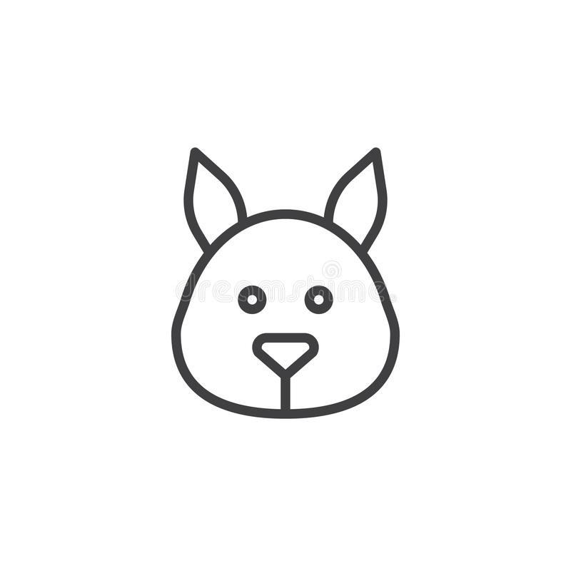 Línea principal icono de la ardilla libre illustration