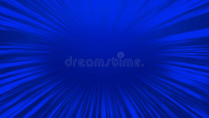 Línea radial cómica azul fondo, fondo de la velocidad del extracto de la historieta fotos de archivo