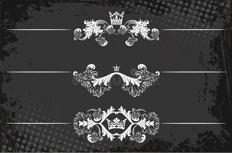 Línea real de la regla con las coronas libre illustration