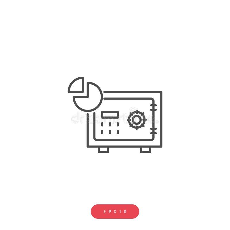 Línea relacionada icono del vector de la gestión de negocio del icono del vector del almacén de datos Movimiento Editable pixel 1 stock de ilustración