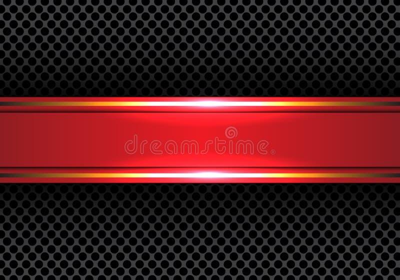 Línea roja abstracta bandera del oro en vector de lujo moderno de la textura del fondo del diseño de la malla del círculo libre illustration