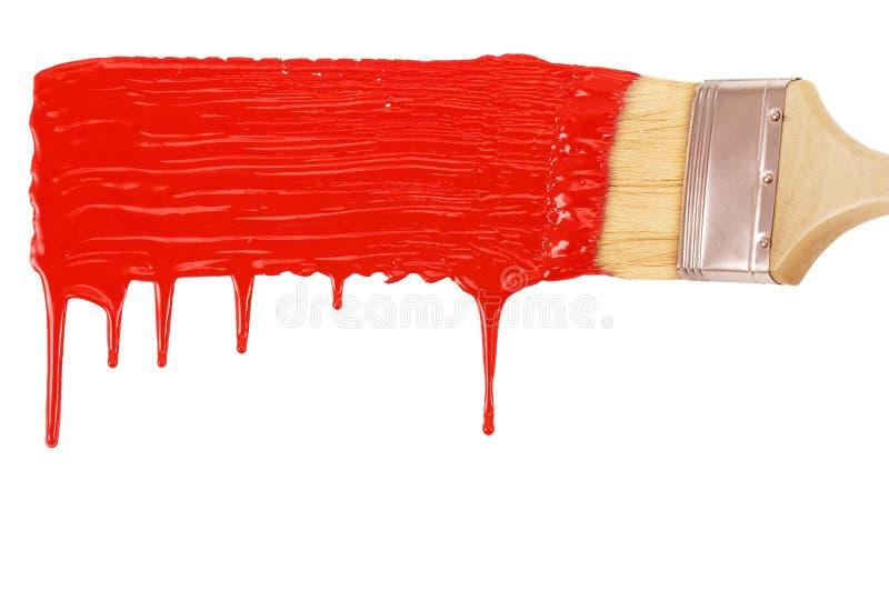 Línea roja de pintura fotografía de archivo libre de regalías
