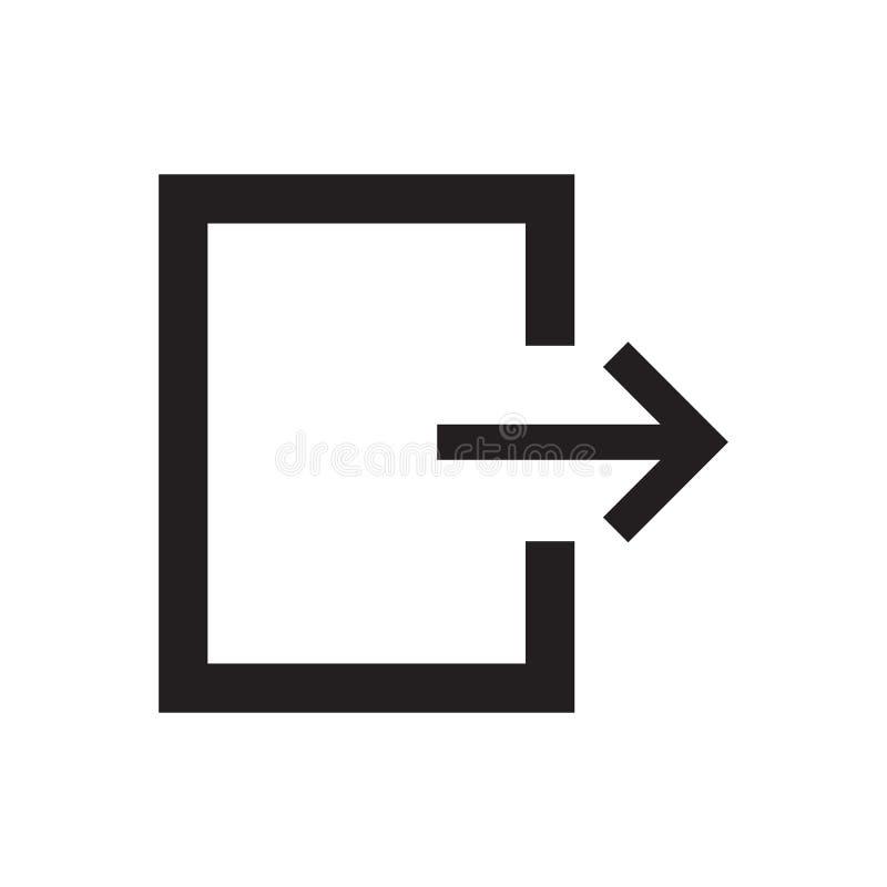 Línea salida del icono libre illustration
