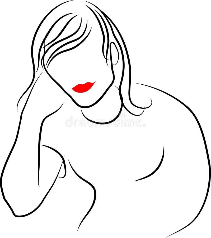 Línea señora libre illustration