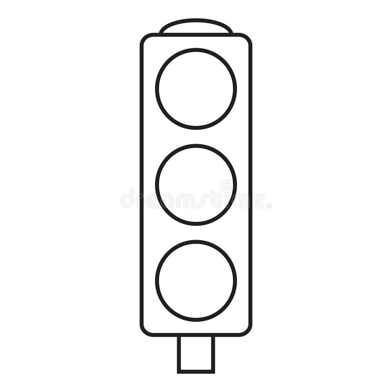 Línea semáforo del icono libre illustration