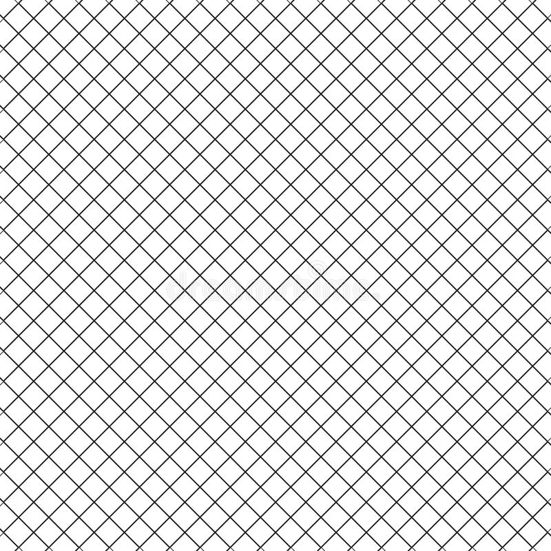 Línea simple cerca Pattern Background de la rejilla del cuadrado del cubo ilustración del vector