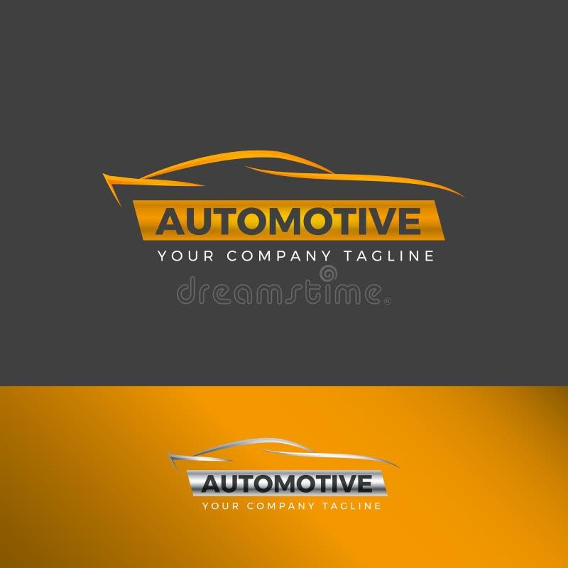 Línea simple logotipo del coche libre illustration