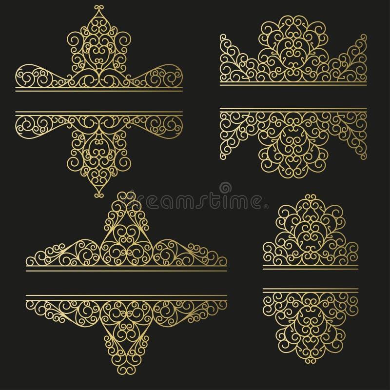 Línea Sistema Del Arte Marcos Decorativos Para Su Diseño Ilustración ...