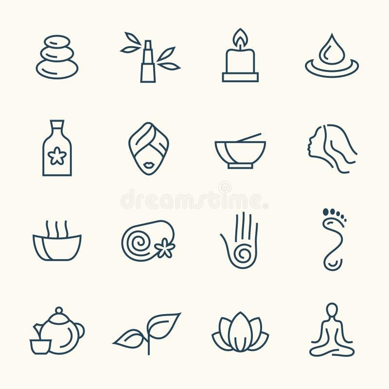 Línea sistema del balneario del icono libre illustration