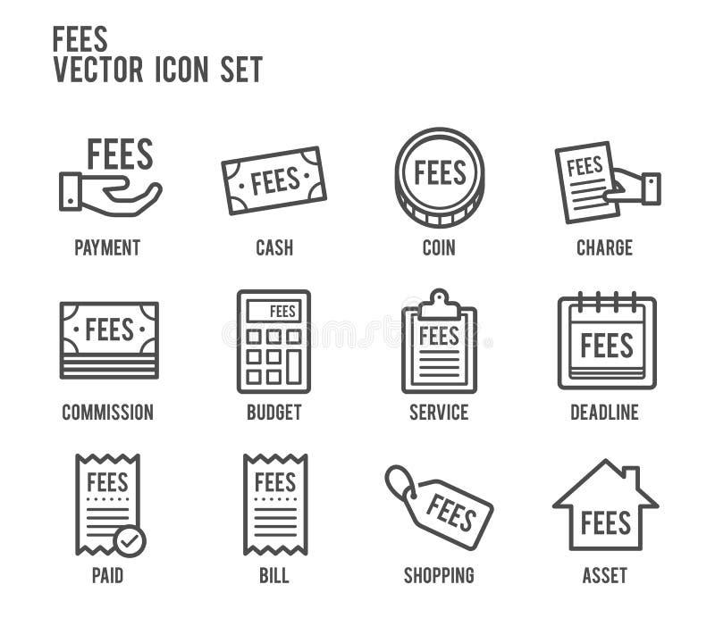 Línea sistema del pago de las tarifas del icono del vector stock de ilustración