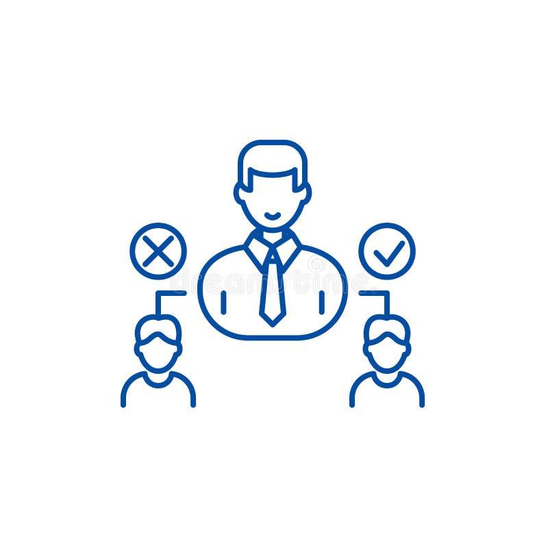 Línea social concepto de la jerarquía del icono Símbolo plano del vector de la jerarquía social, muestra, ejemplo del esquema stock de ilustración