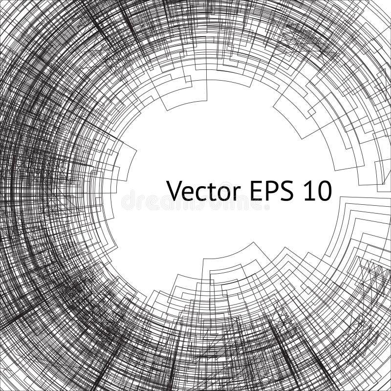 Línea túnel del vector stock de ilustración