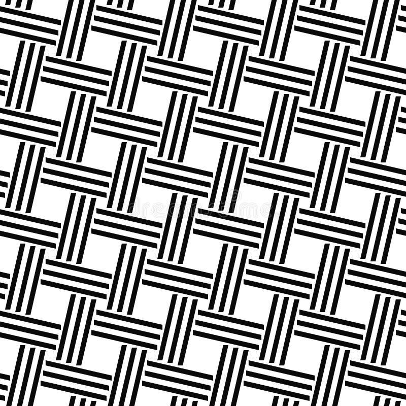 Línea tejida monocromática inconsútil modelo libre illustration