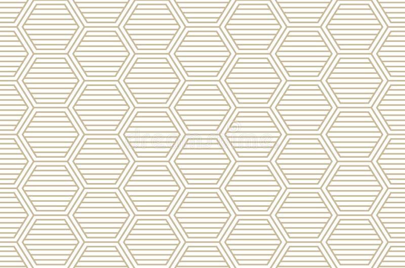 Línea textura elegante moderna del modelo del diamante con los Rhombus, cuadrados Vector inconsútil Repetición de las tejas geomé ilustración del vector