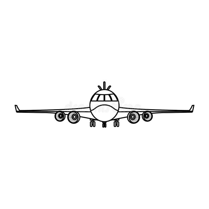 Línea transporte delantero de la moda del vehículo del aeroplano libre illustration