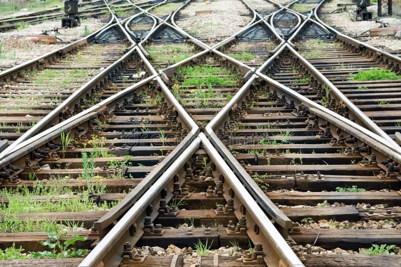 Línea travesía del tren imagenes de archivo