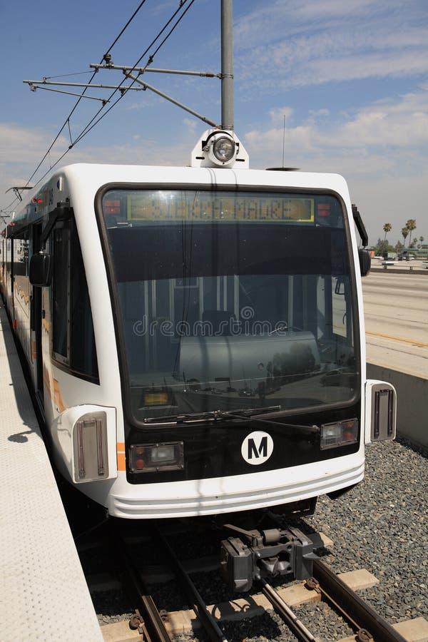 Línea tren del oro en el condado de Los Ángeles foto de archivo libre de regalías