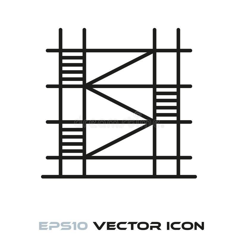 Línea vector del andamio del icono stock de ilustración