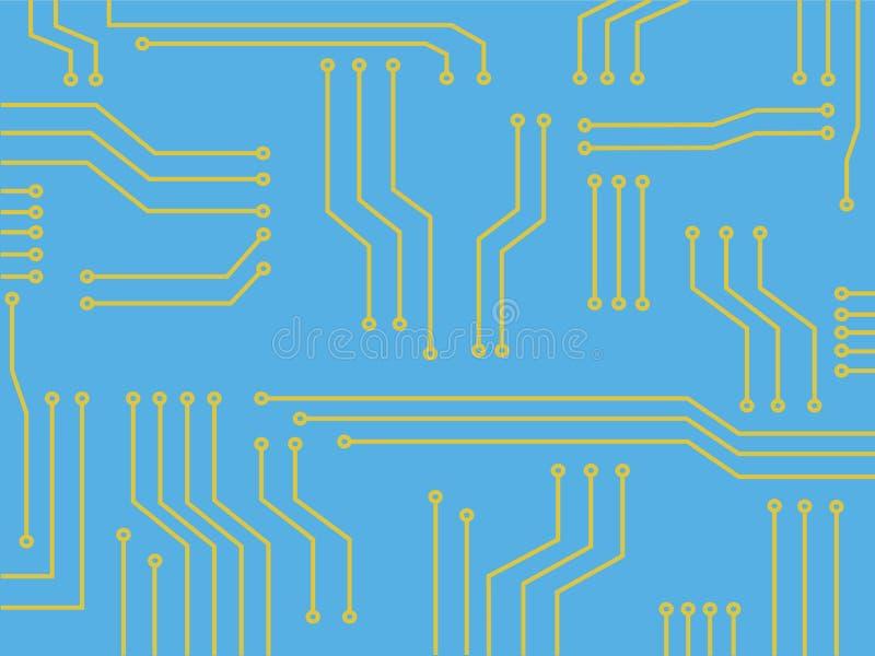 Línea vector del microchip del fondo del extracto del símbolo de la tecnología ilustración del vector