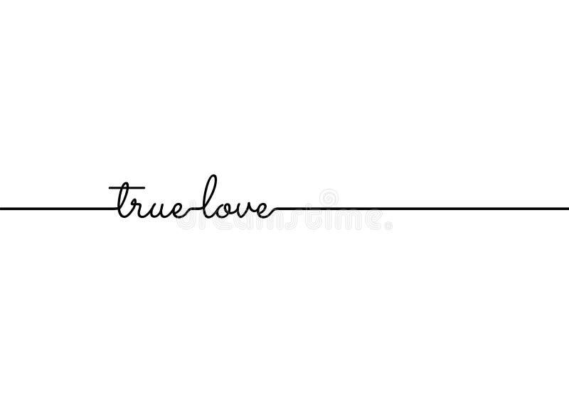 Línea verdadera bandera minúscula de la cita del texto del lema del amor de la muestra del símbolo del icono de los pedazos del c libre illustration