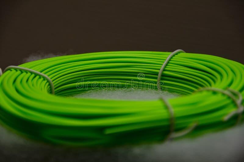 Línea verde de la mosca fotos de archivo libres de regalías