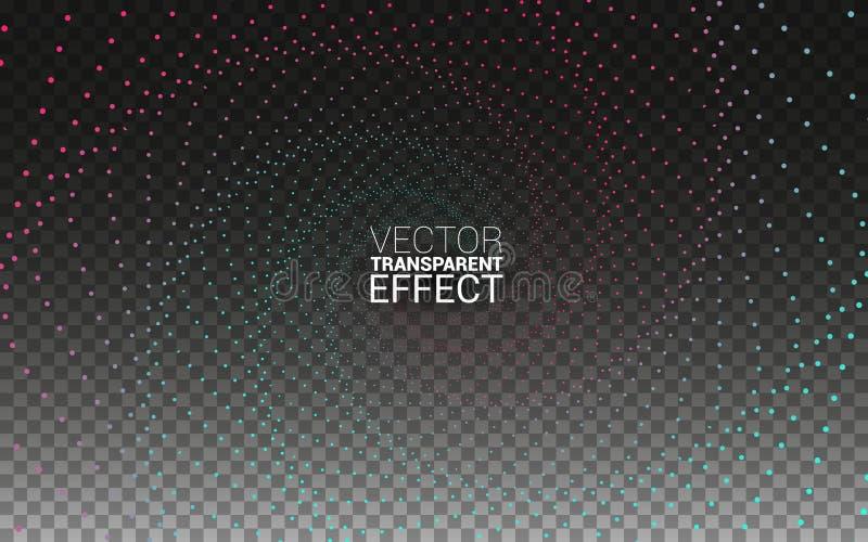 Línea verde del equalizador de la onda acústica del extracto del modelo y tecnología azul de la música del concepto de los colore stock de ilustración