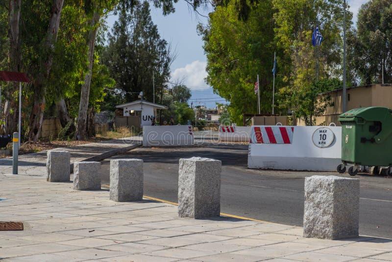 Línea Verde - Nicosia Chipre imagen de archivo libre de regalías