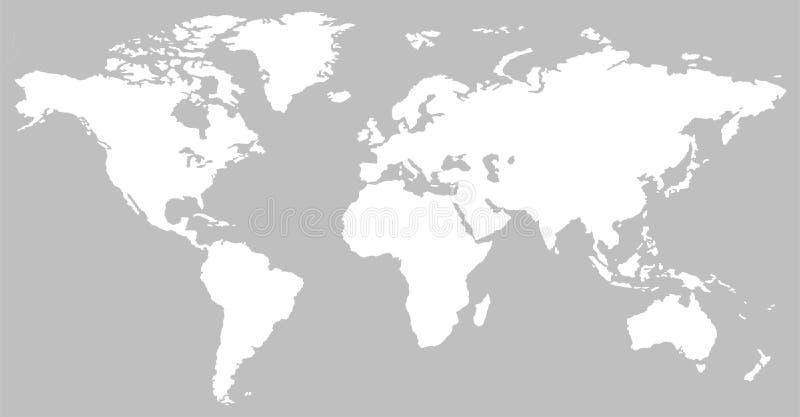 Línea vertical blanco y negro mapa del mundo del modelo stock de ilustración