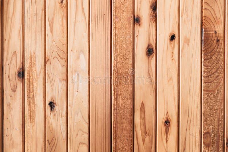 Línea vertical del panel de la pared de madera de pino o de madera imagen de archivo libre de regalías