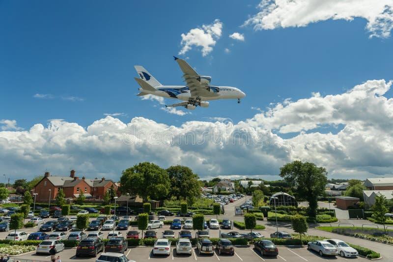 Líneas aéreas A380 de Malasia imagen de archivo