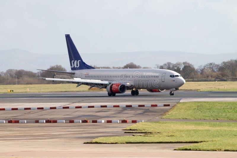 Líneas aéreas escandinavas Boeing 737 del SAS fotos de archivo libres de regalías