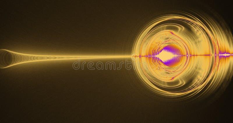 Líneas abstractas amarillas y púrpuras fondo de las partículas de las curvas imágenes de archivo libres de regalías
