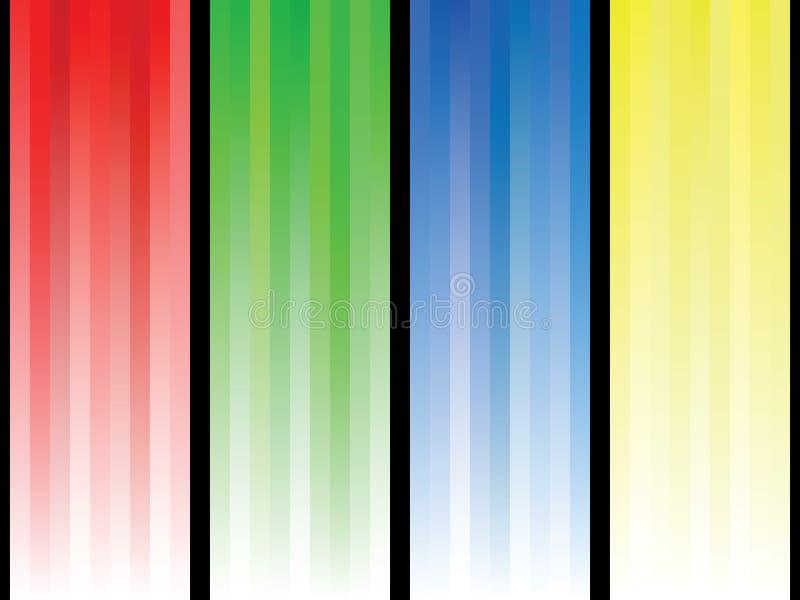Líneas abstractas coloridas del fondo imagen de archivo libre de regalías