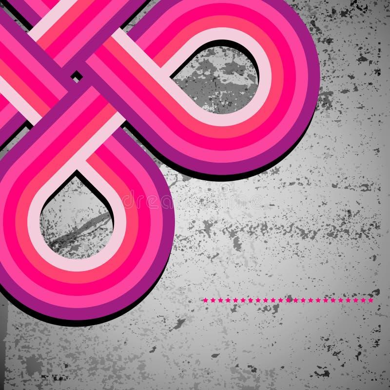 Líneas abstractas de design70s y fondo retro del grunge, ilustración del vector