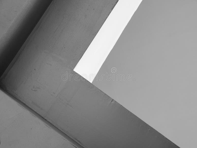 Líneas abstractas de la arquitectura del fondo Detalle moderno de la configuración Fragmento refinado del buil interior/público c fotografía de archivo libre de regalías